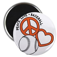 P,L,Baseball, orange Magnet