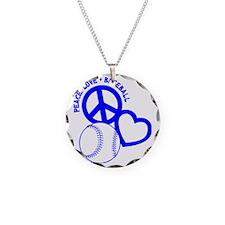 P,L,Baseball, blue Necklace