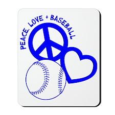 P,L,Baseball, blue Mousepad