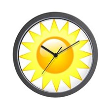 Bright Sun Wall Clock