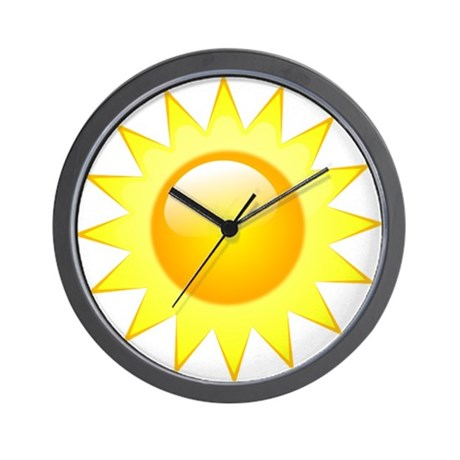 Bright Sun Wall Clock