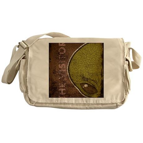 ipadsleeve_txt_alien_green Messenger Bag
