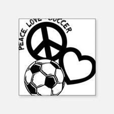 "P,L,Soccer, black Square Sticker 3"" x 3"""