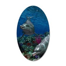 oceanworld_sticker_oval_v_3_ Wall Decal