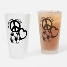 P,L,Soccer, black Drinking Glass