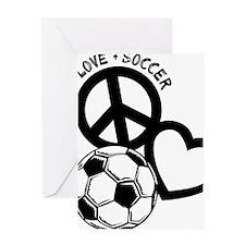 P,L,Soccer, black Greeting Card