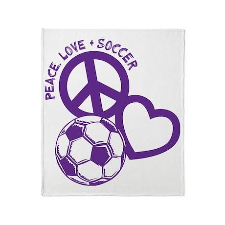 P,L,Soccer, purple Throw Blanket