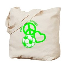 P,L,Soccer, neon green Tote Bag