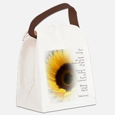 Sunflower Dream Poem Canvas Lunch Bag