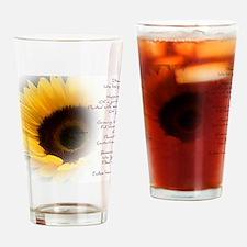 Sunflower Dream Poem Drinking Glass