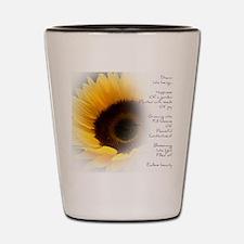 Sunflower Dream Poem Shot Glass
