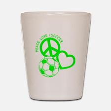 P,L,Soccer, neon green Shot Glass