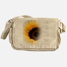 Sunflower Dream Poem Messenger Bag