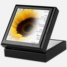 Sunflower Dream Poem Keepsake Box