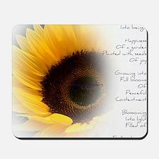 Sunflower Dream Poem Mousepad
