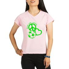 P,L,Soccer, neon green Performance Dry T-Shirt