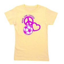 P,L,Soccer, hot pink Girl's Tee