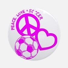 P,L,Soccer, hot pink Round Ornament