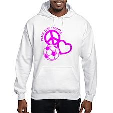 P,L,Soccer, hot pink Hoodie