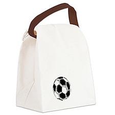 P,L,Soccer, white Canvas Lunch Bag