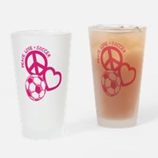 P,L,Soccer, melon Drinking Glass