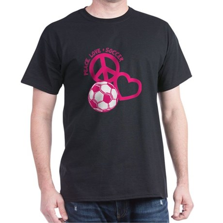 P,L,Soccer, melon Dark T-Shirt