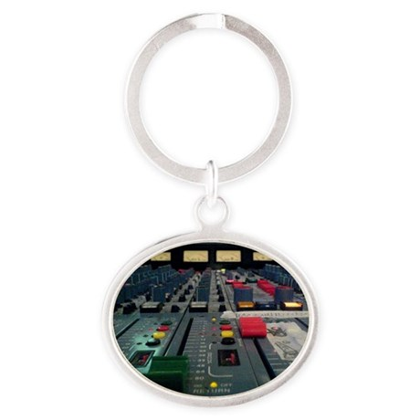 vintage console Oval Keychain