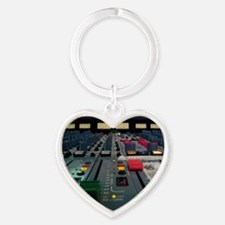 vintage console Heart Keychain