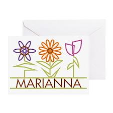 MARIANNA-cute-flowers Greeting Card