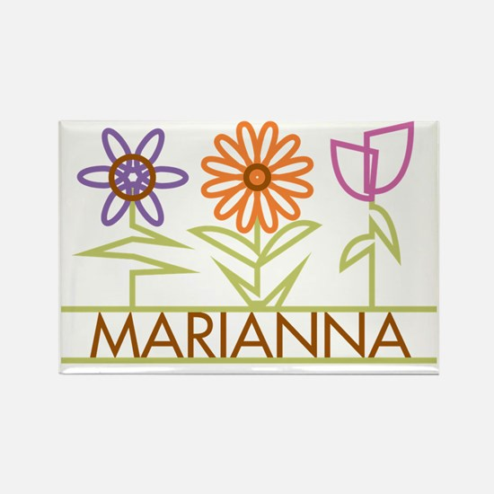 MARIANNA-cute-flowers Rectangle Magnet