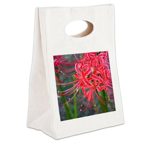 Japanese Flower Canvas Lunch Tote