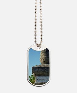 Entrance to the chateau with a marble pla Dog Tags