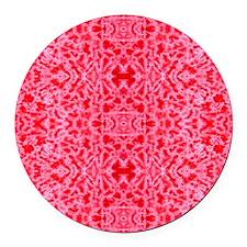 10x16_pinkTD4 Round Car Magnet