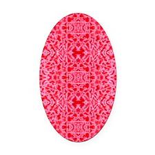 10x16_pinkTD4 Oval Car Magnet