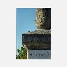 Entrance to the chateau with a ma Rectangle Magnet
