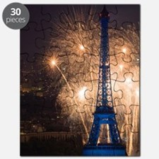 July 14 fireworks at the Eiffel Tower, Pari Puzzle