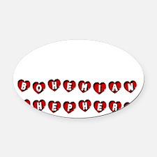 BOHEMIAN SHEPHERD Oval Car Magnet