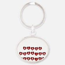 BLACK RUSSIAN TERRIER Oval Keychain