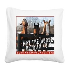 MaytheHorseMouse Square Canvas Pillow