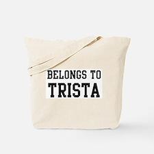 Belongs to Trista Tote Bag
