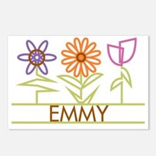 EMMY-cute-flowers Postcards (Package of 8)