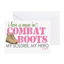 i love a man in boots 1 Greeting Card