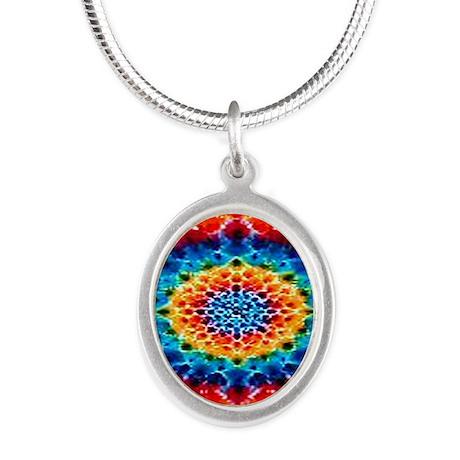 mandalaTD4 Silver Oval Necklace