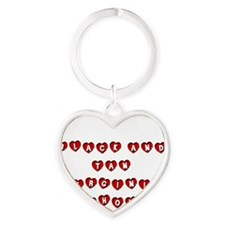 BLACK AND TAN VIRGINIA FOXHOUND Heart Keychain