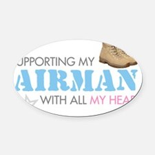 supporting2 Oval Car Magnet