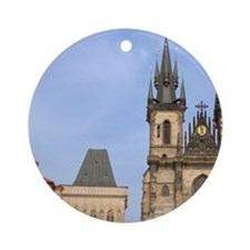 Old town square, Czech Republic, Pr Round Ornament