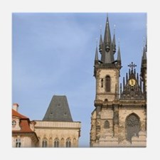 Old town square, Czech Republic, Prag Tile Coaster