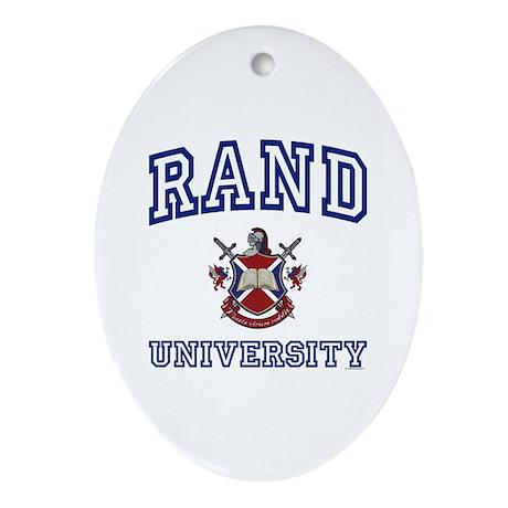 RAND University Oval Ornament