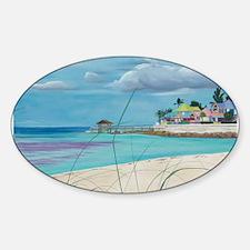 Island Getaway shirt Sticker (Oval)