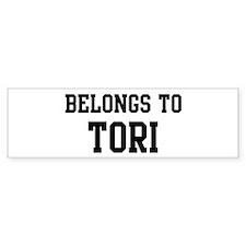 Belongs to Tori Bumper Bumper Sticker